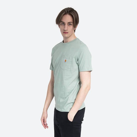 Carhartt WIP S/S Pocket T-Shirt I022091 FROSTED GREEN