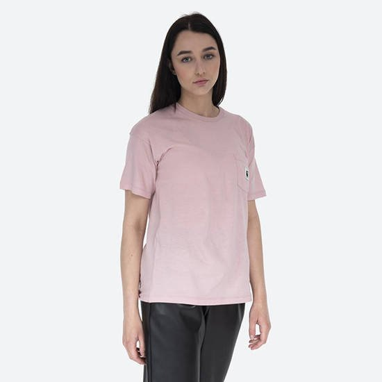 Carhartt WIP W S/S Carrie Pocket T-Shirt I028439 FROSTED PINK
