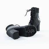 Karl Lagerfeld Voyage III Ankle Lace Logo Boot KL30156 000